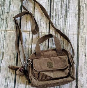 Army green Kipling crossbody bag with monkey